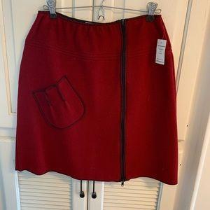 Dresses & Skirts - Red Wool Skirt